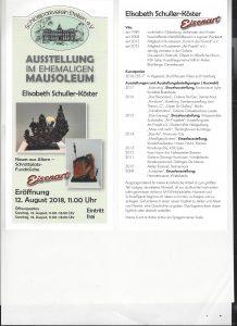 """Eisenart"" Neues aus Altem - Schrottplatz-Fundstücke @ Schlosspark Etelsen, Mausoleum"