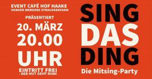 SING DAS DING - Die Mitsing Party @ Werders Straußenfarm | Thedinghausen | Niedersachsen | Deutschland