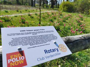 Aktion zum Welt-Polio-Tag